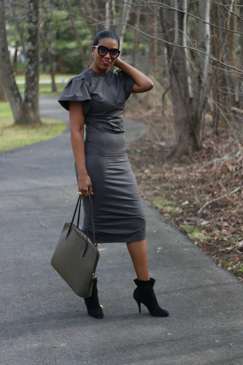 DIY dual zipper pencil dress